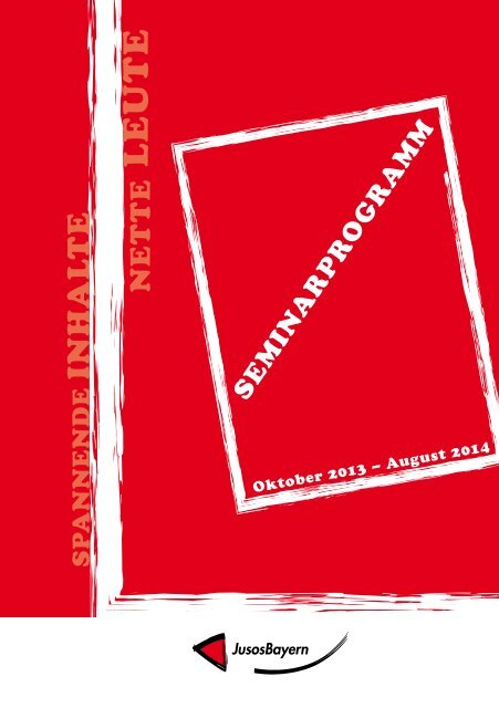 Seminarprogramm 2013/14 - Jusos Bayern - BayernSPD
