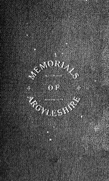 Memorials of Argyleshire : in five parts, with appendices