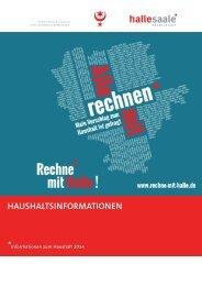 Haushaltsinformationen - Rechne mit Halle!