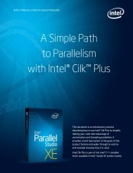 A Simple Path to Parallelism with Intel® Cilk™ Plus - Adalta