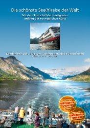 Der Hurtigruten-Katalog 2014 - Blitz-Reisen HomePage