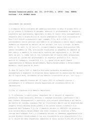 Cass., sent. 19.07.2011, n. 28724 - Ratio