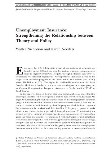 Strengthening the Relationship between Theory and Policy