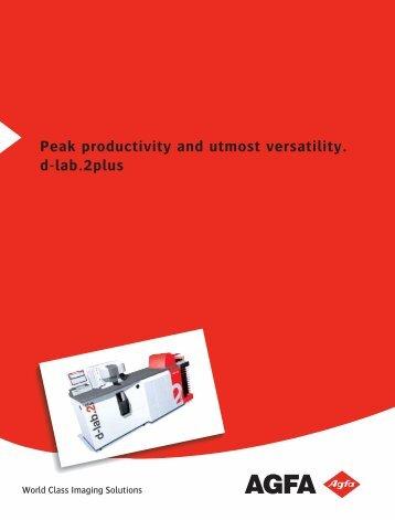 Peak productivity and utmost versatility. d-lab.2plus