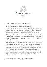 Speisekarte (PDF Format) - Pulgersmühle
