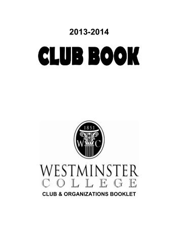 Club Book 2013-2014 - Westminster College