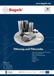 Filterung und Filtersiebe [DE][ PDF, 1.54MB ] - Bagsik
