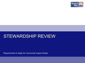 STEWARDSHIP REVIEW