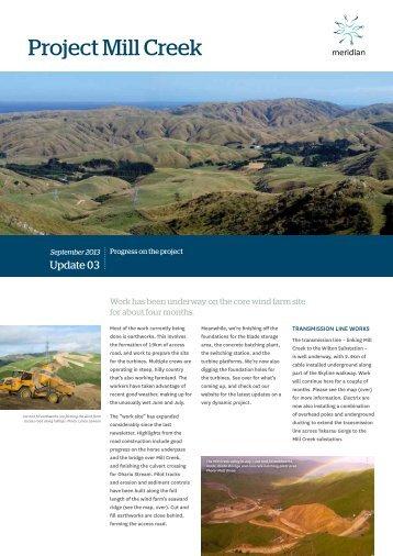 Project Mill Creek Newsletter - September ... - Meridian Energy
