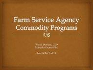 Farm Service Agency Commodity Programs
