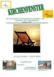 Sommer 2013 - Prot. Kirchengemeinde Ludwigshafen Süd