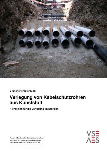 Verlegung von Kabelschutzrohren aus Kunststoff - HakaGerodur AG