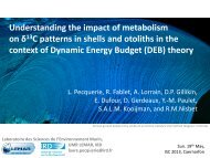 Understanding the impact of metabolism on δ13C patterns in shells ...