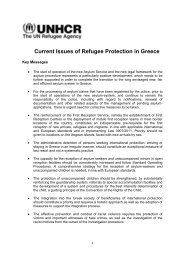 Current Issues of Refugee Protection in Greece