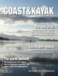 BC trip planner Spring 2012 - Wavelength Paddling Magazine