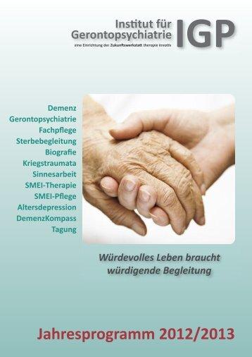 Jahresprogramm 2012/2013 - Zukunftswerkstatt therapie kreativ