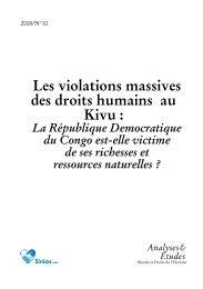 A-2008/N°10 - Les violations massives des droits humains au Kivu