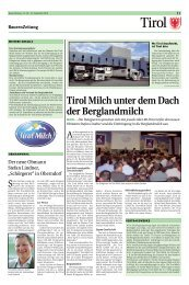 Tirol Milch unter dem Dach der Berglandmilch - Tiroler Bauernbund