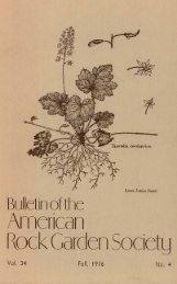 Bulletin - Fall 1976 - North American Rock Garden Society