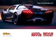 Preise und Leistungen 2013 - Automobil Revue