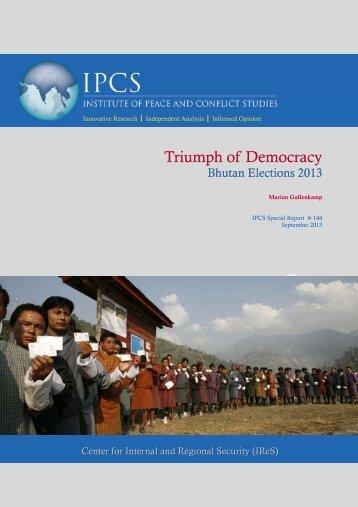 Triumph of Democracy: Bhutan Elections 2013