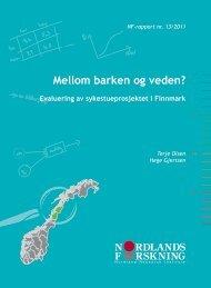 Evaluering av sykestueprosjektet i Finnmark - Nordlandsforskning