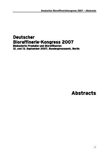 Deutscher Deutscher Bioraffinerie Bioraffinerie ... - biorefinica