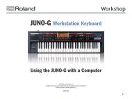 JGWS02—Using the JUNO-G with a Computer - Roland ...