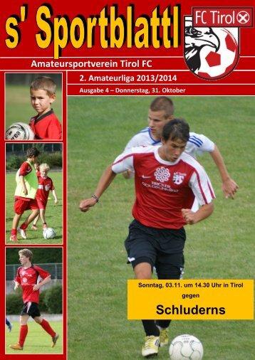 4. Ausgabe vom 31.10.2013 - FC Tirol