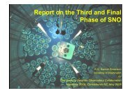 Report on the Third and Final Phase of SNO - Physics and Astronomy