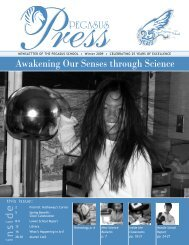 Awakening Our Senses through Science - The Pegasus School