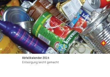 Abfallkalender 2014 Entsorgung leicht gemacht - Gemeinde Küsnacht