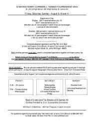 KIWANIS TERRY CORNWELL TENNIS TOURNAMENT 2013 Friday ...