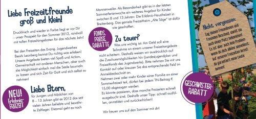 Hier - Evangelischen Jugendwerks im Bezirk Leonberg