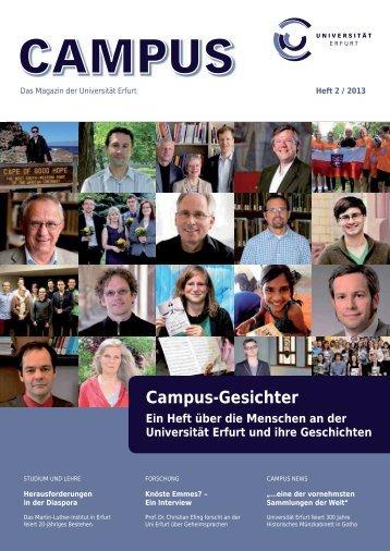 Campusheft 2-2013 - Friedrich-Schiller-Universität Jena