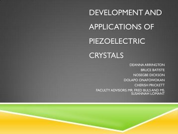 development and applications of piezoelectric crystals