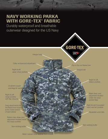 Learn more about the Navy Working Uniform Parka. - GORE ...