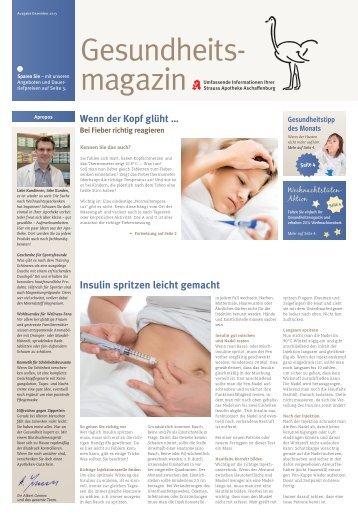 Insulin spritzen leicht gemacht - Strauss-Apotheke Aschaffenburg