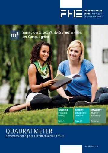Quadratmeter : Semesterzeitung der FH Erfurt