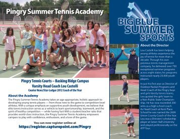 Pingry Summer Tennis Academy - Pingry School