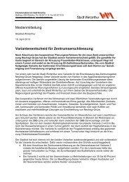 Medienmitteilung vom 19.April 2013 - Departement Bau - Winterthur