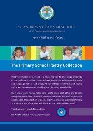 Poetry Book Year 4-6 - St Andrews Grammar