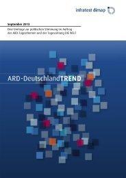 ARD-DeutschlandTREND September 2013 - Infratest dimap