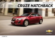 Download Cruze Hatchback equipment & price list - Chevrolet