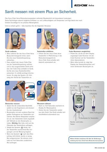 Accu Chek Aviva - Kurzanleitung - Tierdiabetes-shop