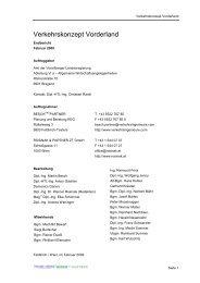 Verkehrskonzept Vorderland - Endbericht