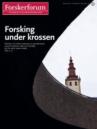 Forsking under krossen - Forskerforum