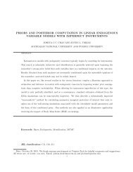 priors and posterior computation in linear endogenous variable ...