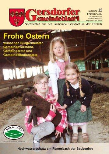 ersdorfer Ausgabe 15 - Gemeinde Gersdorf an der Feistritz