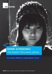 MHMk Screening - MHMK Macromedia Hochschule für Medien und ...